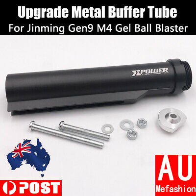 Upgrade Black Metal Buffer Tube For JinMing Gen9 M4 J9 Gel Ball Blaster Toys