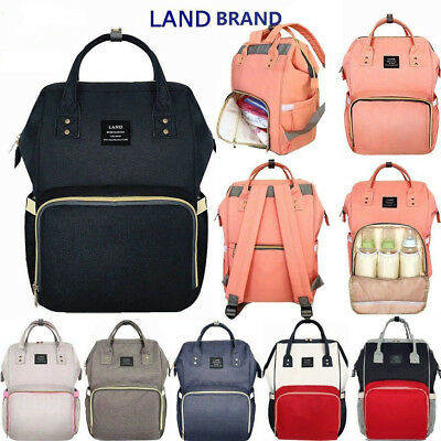 New Multifunctional GENUINE LAND Baby Diaper Backpack Changing Bag Nappy Mummy