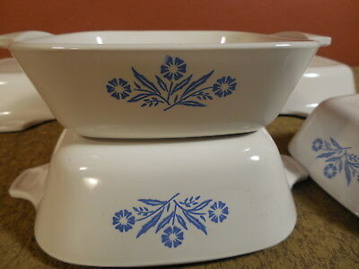 6 Vintage Corning Ware Blue Cornflower P-41-B Petite Pan Casserole Dish Single