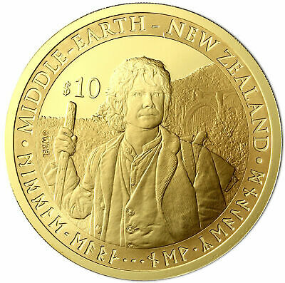 New Zealand -2012 - Gold $10 Proof Coin-1 OZ The Hobbit: An Unexpected Journey