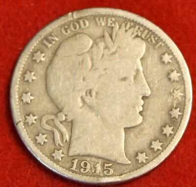 1915-S 50C Barber Half Dollar Vg Beautiful Coin Check Out Store Bh459