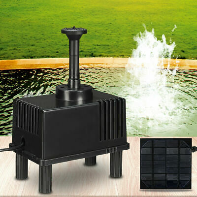 Solar Panel Power Submersible Fountain Pool Pond Garden Water Pump Kit Outdoor