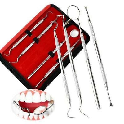 Stainless Dental Tool Set Kit Dentist Teeth Clean Hygiene Mirror Oral Care