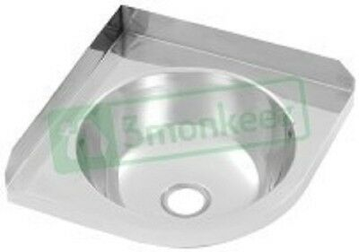 3 Monkeez Corner Stainless Steel Hand Basin - Model Code : HBCR