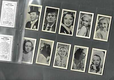 Full Set 48 Famous Film Stars The Spinet House By Rj Hill 80Yr Cigarette Cards