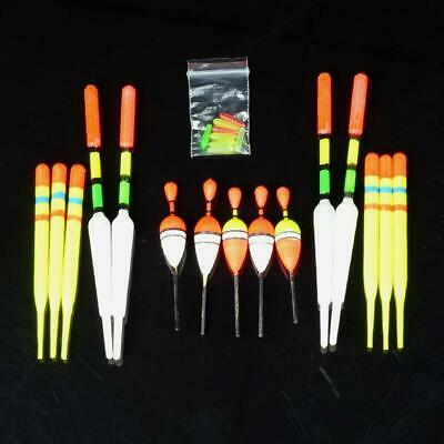 Outdoor Fishing Equipment 15 Pcs in 1 Vertical Buoy Bobbers Light Stick Floats