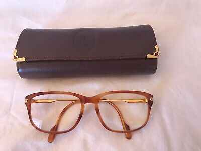 Vintage Cartier Glasses With Red And Gold Case