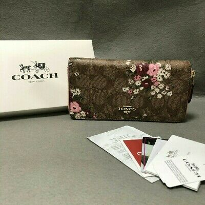 new product ad5ae 79735 COACH F29931 PVC coated canvas x leather 19.5 cm x 10 cm x 2 ...