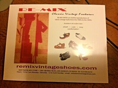 STORE CREDIT $310! Re-Mix Vintage Shoe Good online or in store NO EXP date!