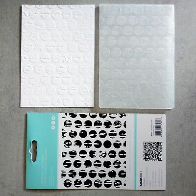 """""""Clearance"""" Kaisercraft Embossing Folder A2 Distressed Dots Birthday Male"""