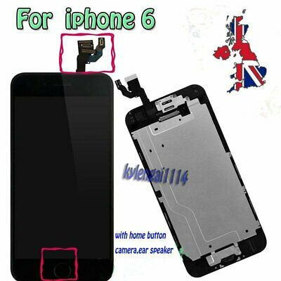 iPhone6 Replacement Digitizer LCD Touch Screen Black and Home Button Camera UK