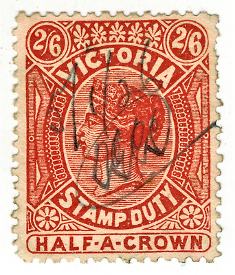 Australia-Victoria, 1884, 2sh 6d, Brown-Yellow, Stamp Duty, w-33, p-11.5, SG.292