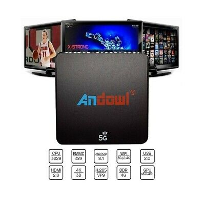 Smart Tv Box Andowl Q-M6 Android 8.1 4K 4Gb Ram Rom Iptv 5G Dual Band Tastiera