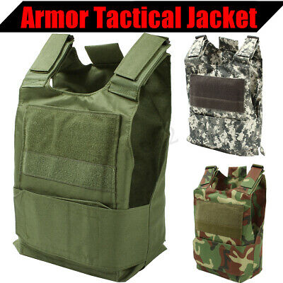Lightweight Plate Carrier Tactical Vest Police SWAT Sentry Chest Armor