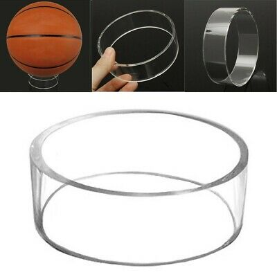Clear Basketball Volleyball Football Soccer Ball Display Stand Ring Holder NEW