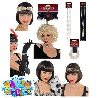 Ladies 1920s Flapper Costume Accessories Adults Charleston Fancy Dress Outfit