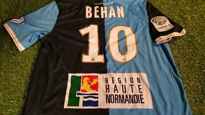 le harve hac france football soccer large mans match worn behan no10 home shirt