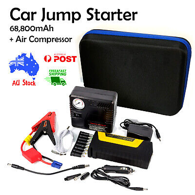 68800mAh Car Jump Starter 12v with air compressor Battery charger Power bank AU