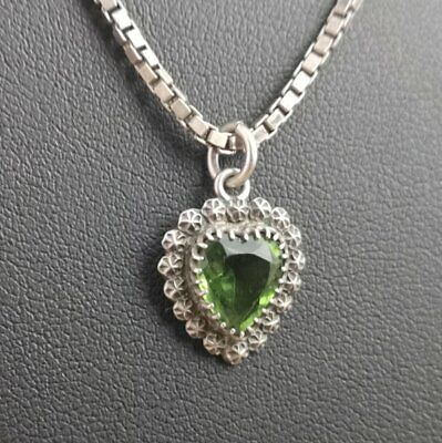 Antique silver and paste heart pendant, Charles Horner, Victorian necklace