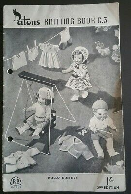 Dolls clothes Patons knitting book c.3