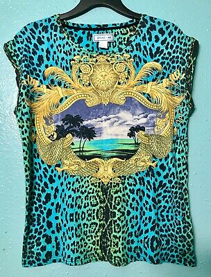 4f35f3345280 Versace Baroque T-shirt. Rare Versace For H&M Top. Gianni Versace, Baroque