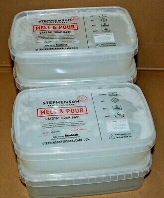 Stephenson - Melt & Pour - Crystal Soap Base - 5Kg - Sls Free - 151993 - A2-6