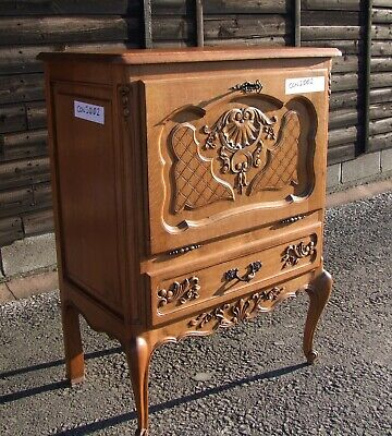Vintage Louis Xv Style French Carved Oak Drinks Cabinet (Con1002)