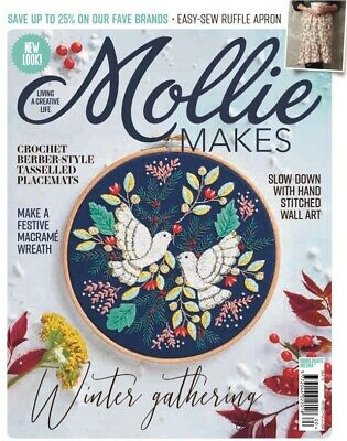 Mollie Makes Magazine 100TH ISSUE PARTY BEAR KIT INSIDE SEW CUTE LIVING A CREATI