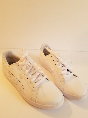 5378a6eedcc5 PUMA WOMEN S SIZE 9.5 Smash WNS v2 Leather Perf Sneaker 365216 03 ...