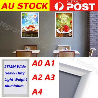 A0 A1 A2 A3 A4 PREMIUM Aluminum Snap poster frame Sign holder wall mount FAST