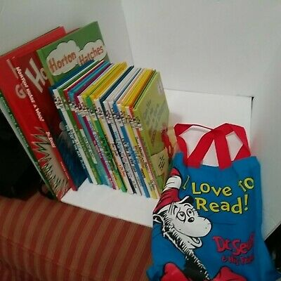 Dr Seuss Book Set 24 Brand New Assorted Sizes Beginner Bright & Early Carry Bag