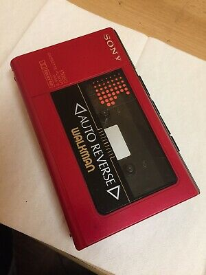 Sony Wm-6 Walkman Vintage Autoreverse Beautiful Rare In Red Color Working