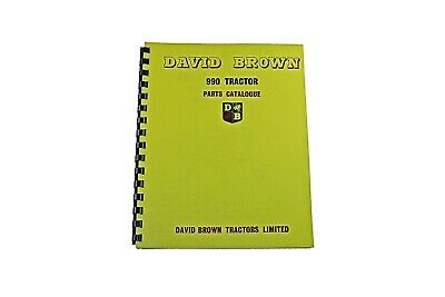 David Brown List of Parts 990 Implematic & Livedrive 1961 (DBT 494)