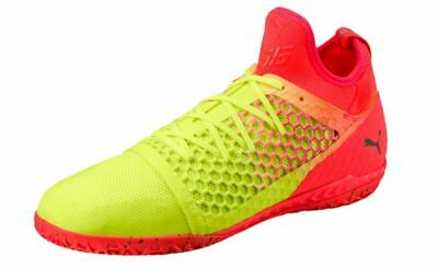 quality design d1599 f2e9a Puma Men s 365 IGNITE NETFIT CT Indoor Soccer Shoes Yellow Red Black 104704-