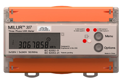Milur® 307 Electric Smart Meter Submeter Kilowatt-Hour kWh Three Phase