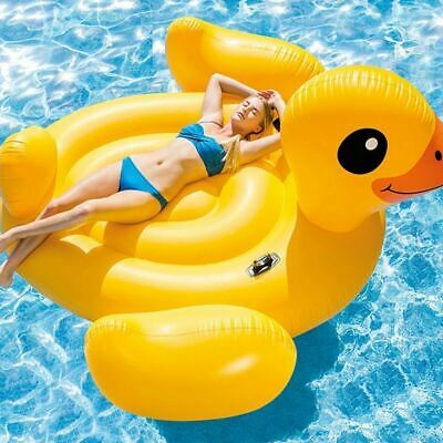 Giant Inflatable Swan Water Float Raft Summer Sea Swim Pool Lounger Beach New
