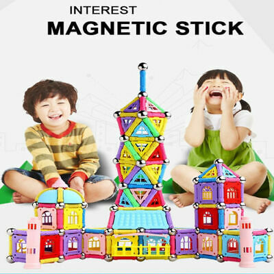 103Pcs Educational Magnetic Construction Sticks Building Blocks Toy Set Kid Gift
