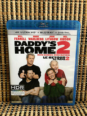 Daddy's Home 2 (1-Disc Blu-ray, 2018)Will Ferrell/Mark Whalberg/Mel Gibson