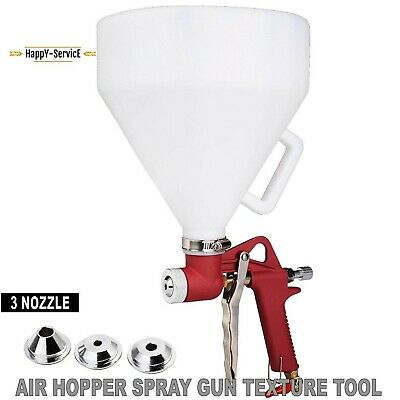 Air Hopper Spray Gun Paint Texture Tool Dry Wall Painting Sprayer With 3 Nozzles
