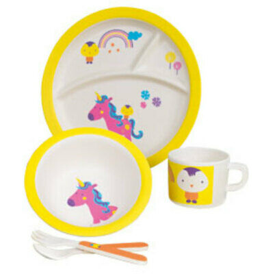 Eco-Friendly Unicorn: Kids' 5-Piece Dinner Set