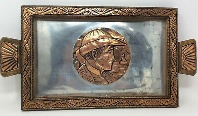 Arts And Crafts Repousse Copper Tray or Wall Art 50 x 26 cms