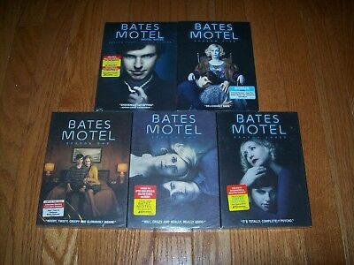Brand New Sealed. Bates Motel the complete series on DVD. Seasons 1-5. On Sale!