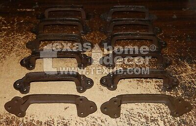"""12 Large Cast Iron Antique Style RUSTIC Barn Handle, Gate Pull, Shed Door 8 3/8"""""""