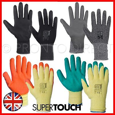 120 Pairs Builders Safety Work Gloves Nylon Pu Grip Anti Cut Level 5 Mechanic