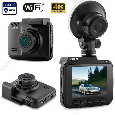 4K Ultra HD 2160P Dash Cam Car Camera WiFi DVRs with GPS Night Vision C1B4M