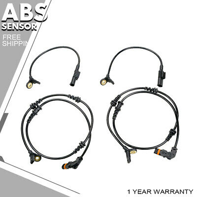 4 x Front Rear ABS Wheel Speed Sensor For 07-11 Mercedes-Benz ML63 AMG 6.2L 6.3L