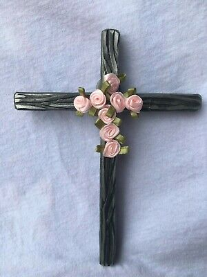 cross, wall hanging, picture, art, rose, spirituality, religion, home decor