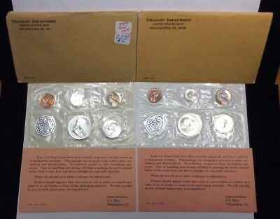 US Mint Silver Proof Sets-1963&1964 (Lot of 2 Sets) With Original Packaging