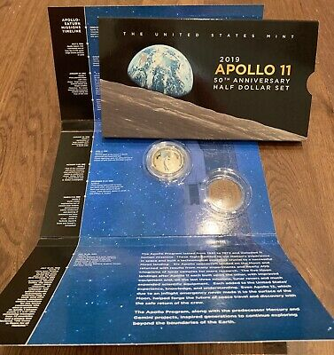 2019 S Apollo 11 Proof Clad Half Dollar W 50th Anniversary Set Packaging (1 Coin