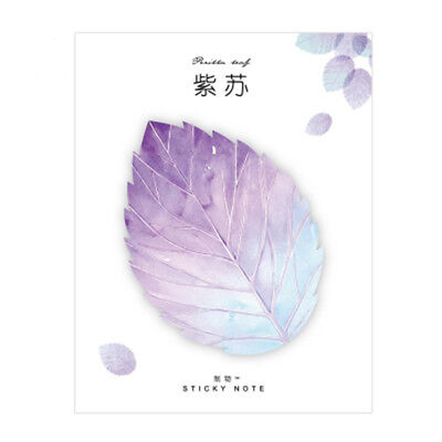 Natural Plant Leaf Memo Pad Sticky Notes Notepad Cute Kawaii Stickers Note Hot